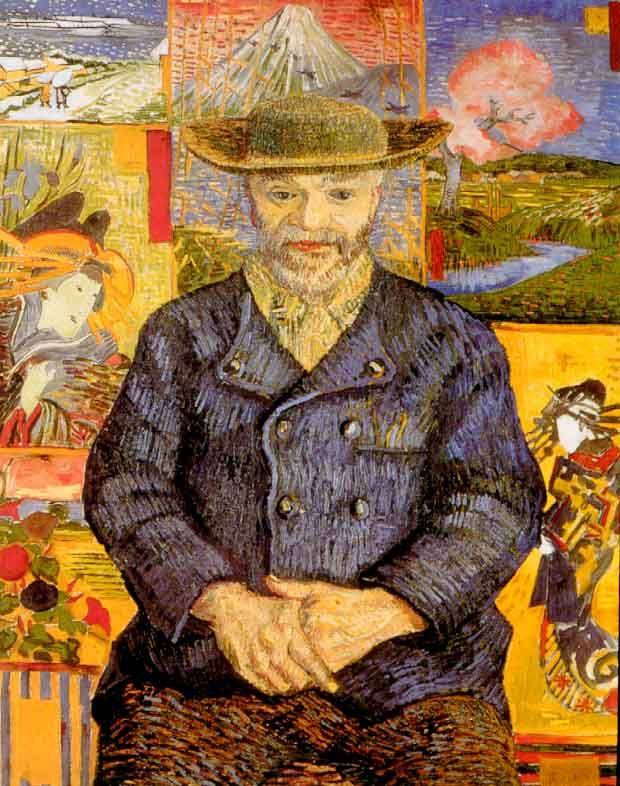 """Portrait of Père Tanguy"" 1887 Vincent van Gogh. Oil on canvas; 65.0 cm × 51.0 cm (25.6 in × 20.0 in) Musée Rodin, Paris."