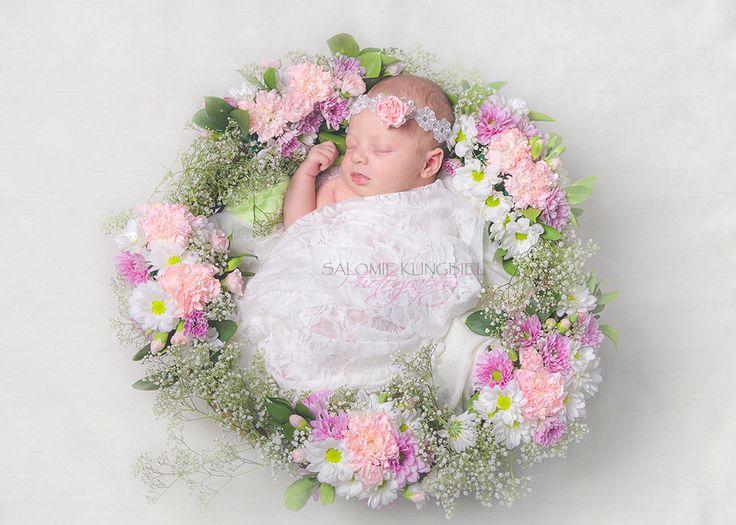 Flower basket for newborn photo session