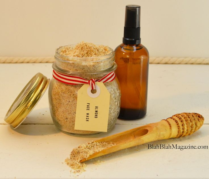 Homemade face scrub for normal to oily skin