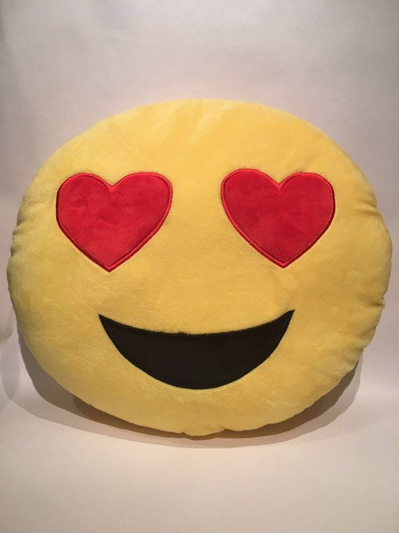 Emoji Heart Eyes Emoji Pillow 35cm. by fabulicious18 on Etsy