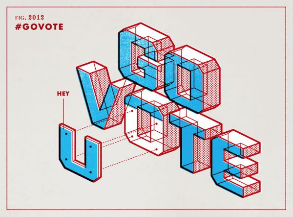 Rock the Vote: #GoVote by Matt Stevens, via Behance