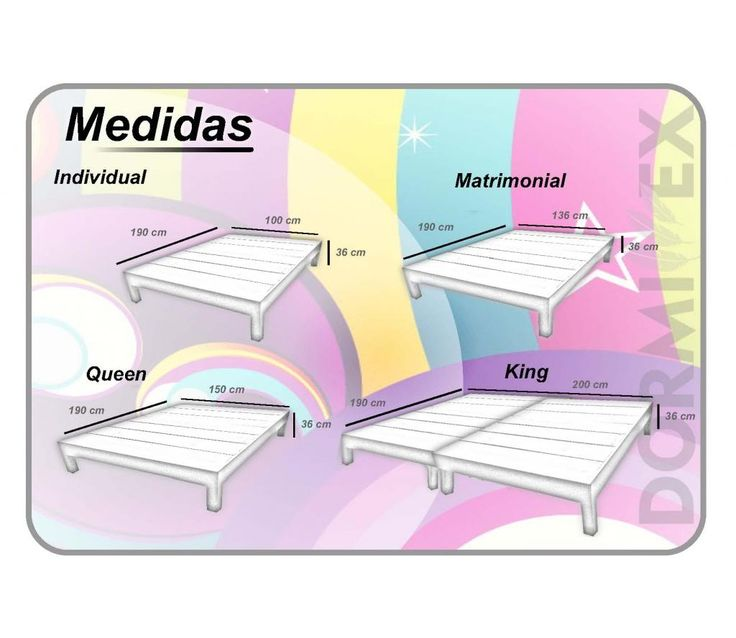 1000 ideas about medidas de cama matrimonial on pinterest for Medidas para cama king size
