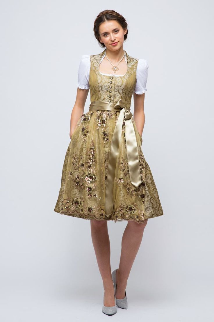 Midi Dirndl with cute ornaments Tramontana from 99,95 at Bavaria Lederhosen shop now ♥ fast shipping ♥ large selection ♥ great brands