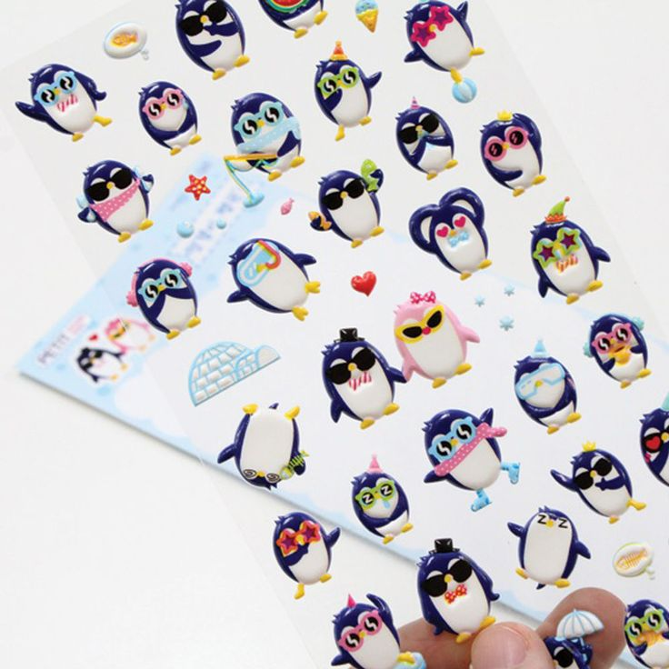 Korea Brand PETIT Cute Nice Panguin Character 1Pcs Diary Decoration Soft Sticker #PETITFANCY #Soft