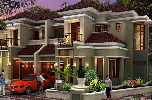 Model Rumah Mewah 2 Lantai Terbaru Tampak Depan