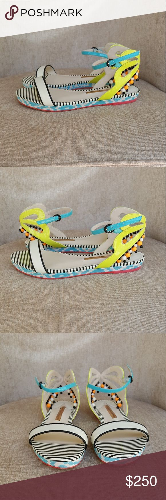 NIB Sophia Webster Luca Aztec Flats US 6.5 / Euro.36.5.  New with box only.  No dustbags Sophia Webster Shoes Flats & Loafers