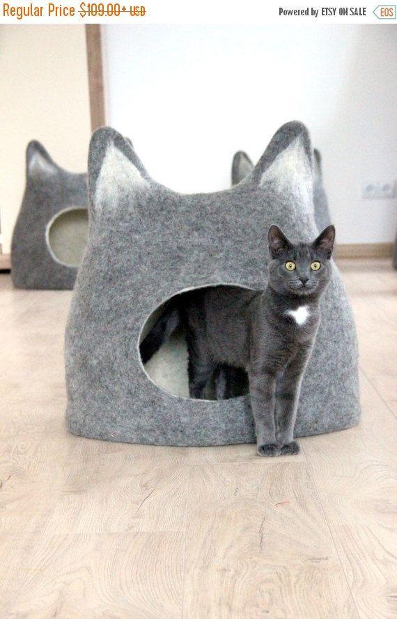Animal de compagnie lit - chat - chat grotte - maison de chat - respectueux de l