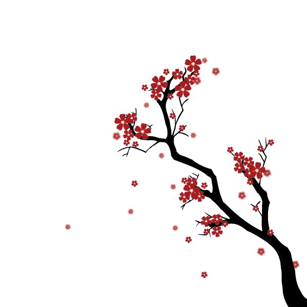 Create a Japanese Cherry Blossom Scene