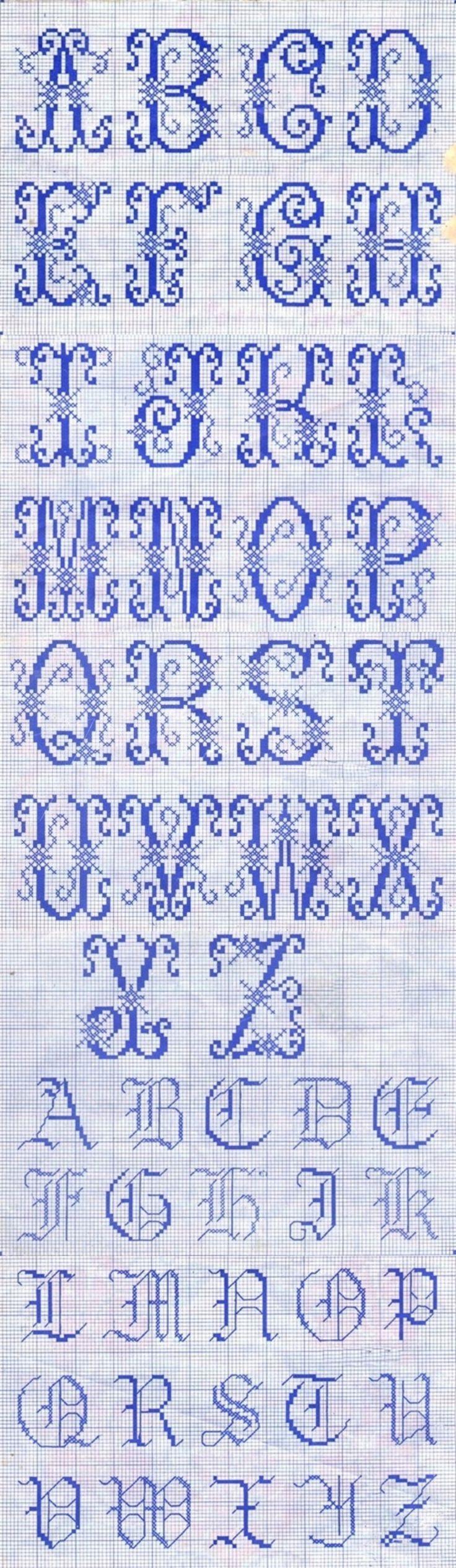 26英文字母十字绣样~~ - 堆糖 发现生活_收集美好_分享图片