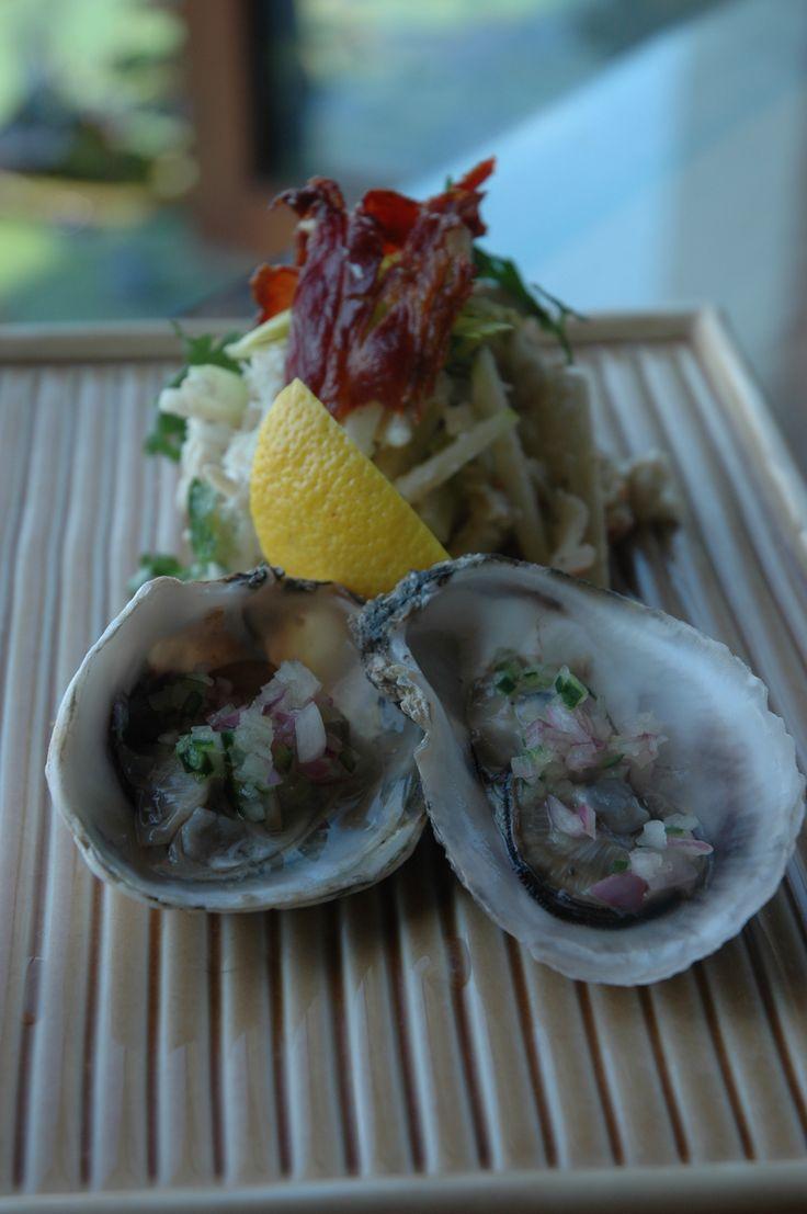 カザミ蟹と牡蠣のレムラードソース