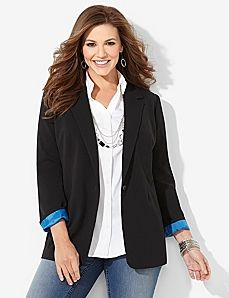 Perfect look with West Village Jacket from Lane Bryant for casual Fridays at the office!  #casual #spring2014 #womensfashion2014