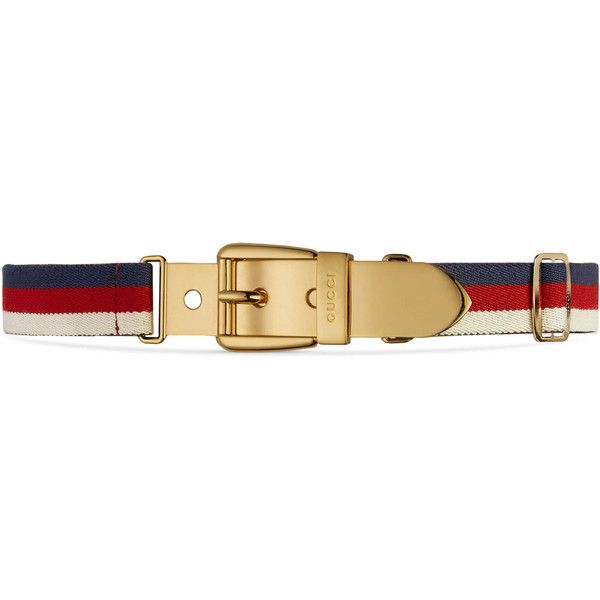 Gucci Web Belt With Square Buckle ($420) ❤ liked on Polyvore featuring accessories, belts, gold, waist belt, red belt, red waist belt, gold belt and gucci