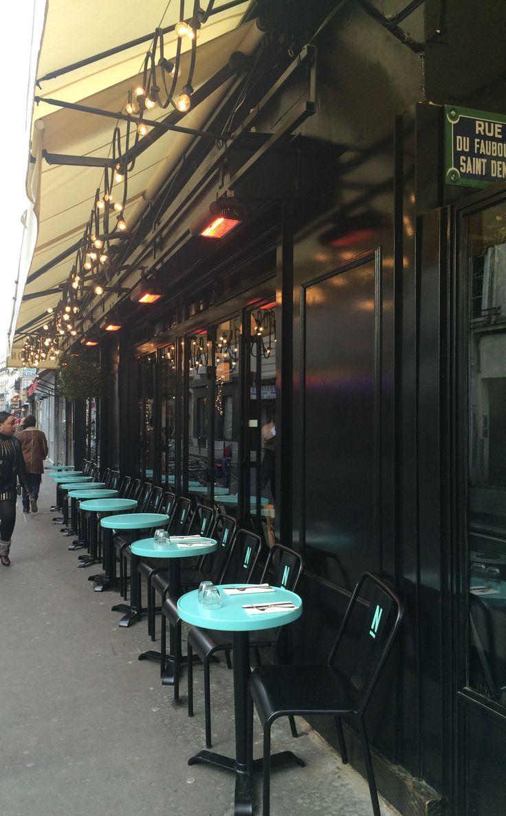 La nouvelle terrasse du Napoléon Rue du Faubourg Saint Denis Paris 10e Clémence et Clément Goutal Décorateurs