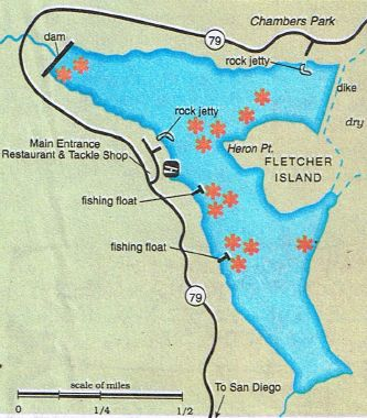 2017 Southern California Fishing Maps, Reports plus Hunting Public Lands, Clubs and Ranches: 2017 Lake Cuyamaca Fishing Map, Reports plus Hunti...