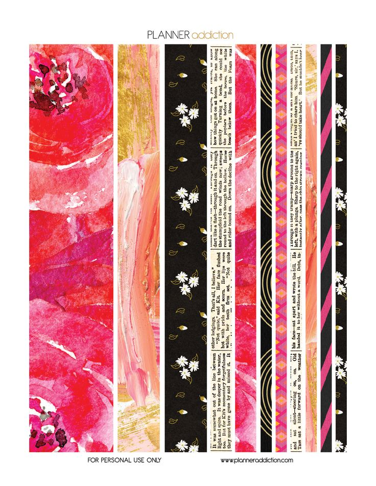 Floral paint planner addiction washi tape pink and for Paint planner