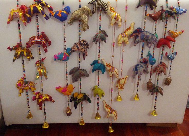 Moviles tiras o colgante elefantes hindu decorativo inspiraci n india en mi depa pinterest - Decoracion indu ...