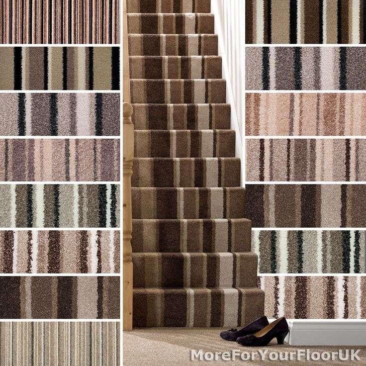 Brown Striped Carpet, Beige Stripe Carpet, Cheap Carpets, Loop, Twist, Saxony 4m