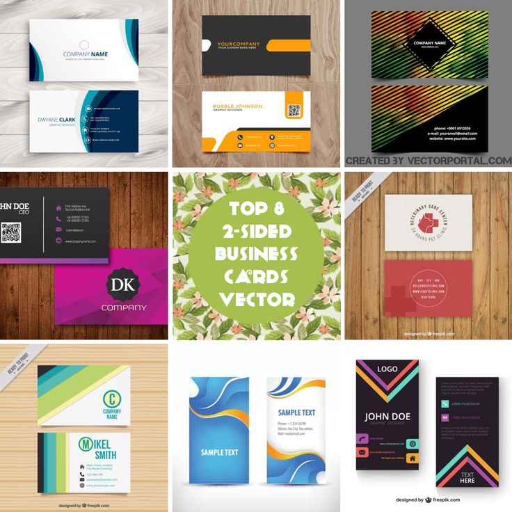 Today I'm gonna share my list of top 8 Free 2-Sided Business Cards Vector.