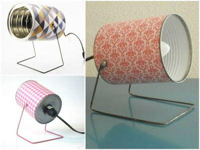 Interesting ideas for decor: Светильники из консервной банки. Lamps made of tin.