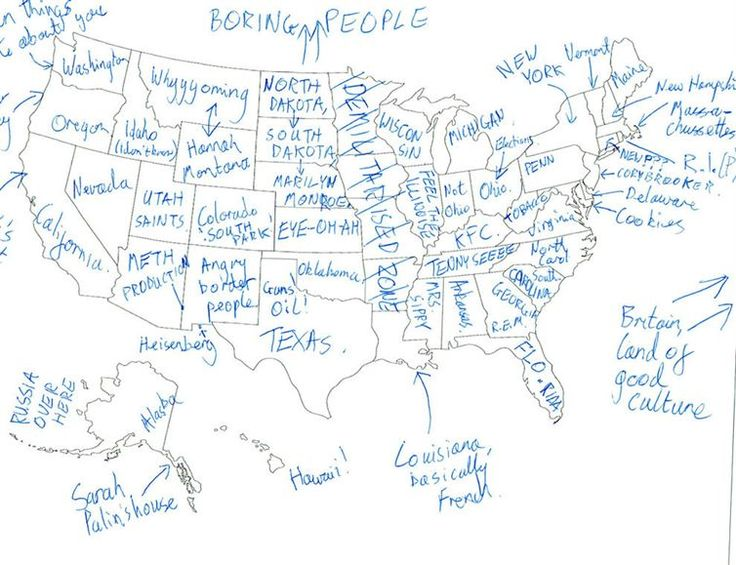 Best Brits Naming States Images On Pinterest United States - Buzzfeed uk map of us