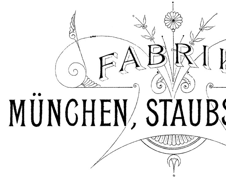 This is a wonderful European Furniture Transfer! This Typography Printable was created from an old Piece of German Ephemera.