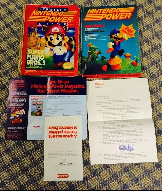 Digging through the basementI discovered my dad's first Nintendo Power editions from July/August 1988 a walkthrough guide & original letters Nintendo Power sent out for advertising! Best cleaning day ever.