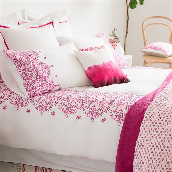 Geometric Embroidered Bedding - Bedding - Bedroom   Zara Home United States of…