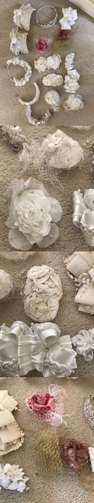 Bridal Accessories: Lot Of 15 Women Wedding Bride Hairband Pearl Tiara Rhinestone Headband Headdress BUY IT NOW ONLY: $99.99