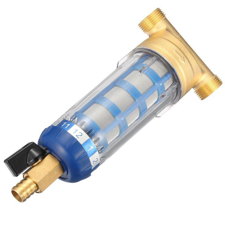 Cobre Purificado de agua del grifo Pre-filtro central Filtrado Malla Acero inoxidable Estándar de la UE