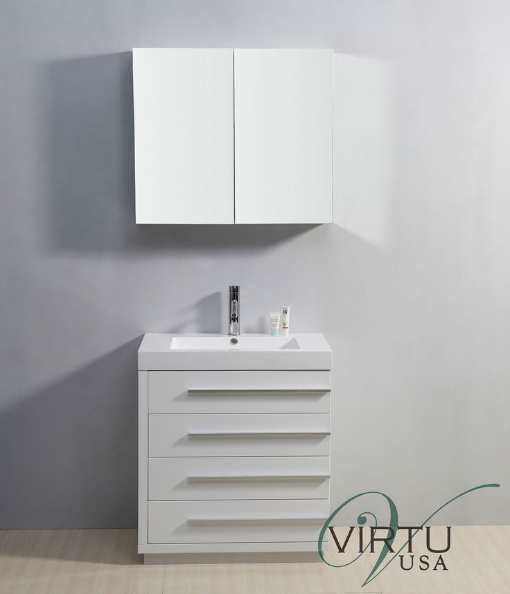 Picture Collection Website Virtu USA Bailey inch White Single Sink Bathroom Vanity http