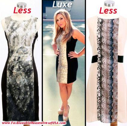 Adrienne Maloof's Blumarine Dress Look for Less