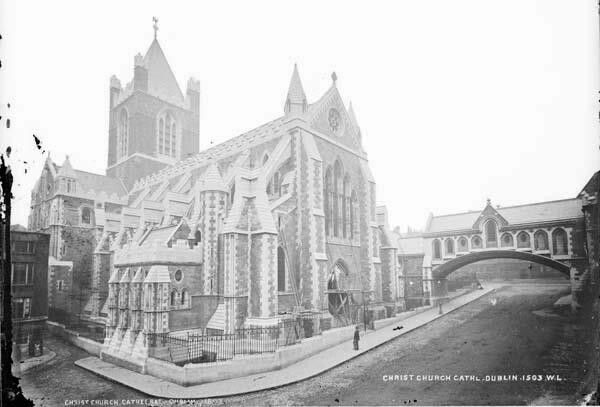 Christchurch near the completion of its restoration in the 1870s