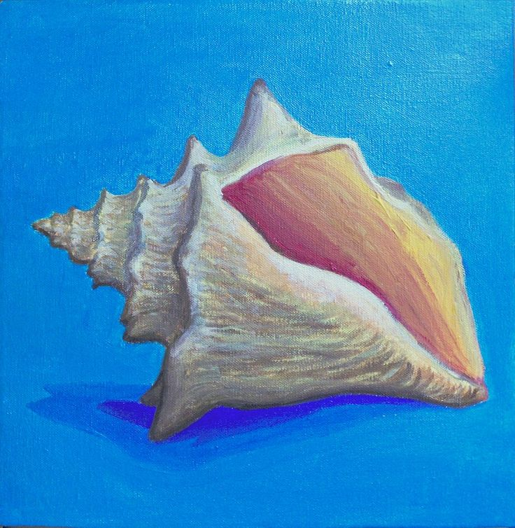 Image Result For Seashell Paintings Canvas In 2019 Seashell Painting Summer Painting