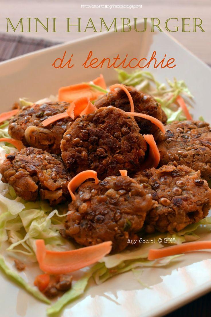 Mini hamburger di lenticchie