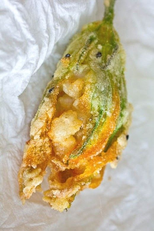 Stuffed Squash Blossom Recipe | Stuffed Squash Blossom Recipes - Pumpkin Flowers Filled, Deep Fried