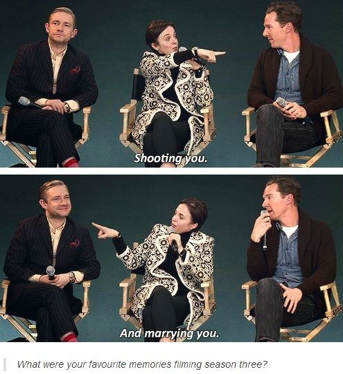 Martin Freeman, Amanda Abbington, & Benedict Cumberbatch ...