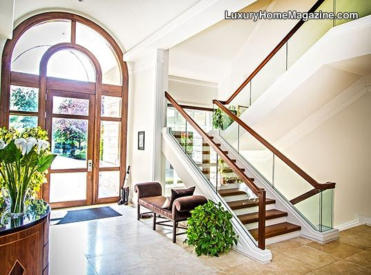 Foyer And Entryways Michigan : Stunning estate with breathtaking lakefront living in