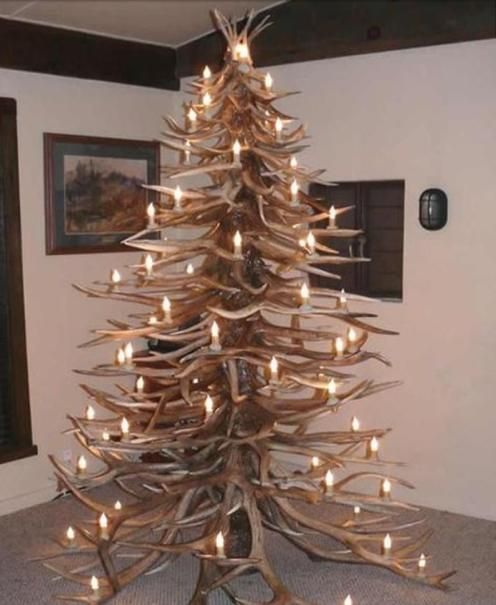 Extreme Christmas Trees: 35 Best Antler Christmas Trees Images On Pinterest