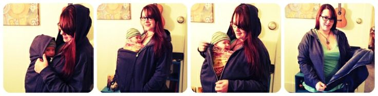 How to make a baby wearing hoodie - brilliant idea, gotta make one of these!!