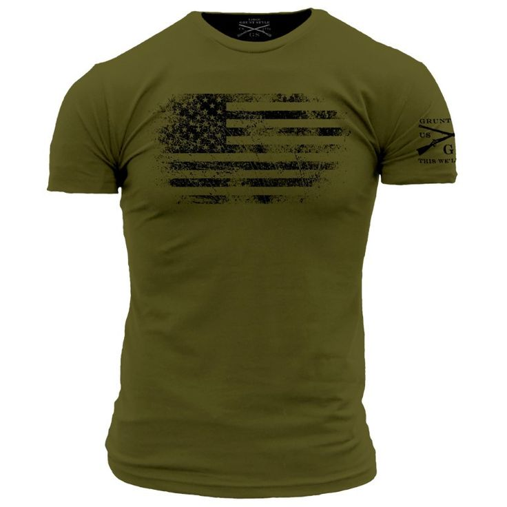 America Vintage T-Shirt- Grunt Style Short Sleeve Tee Shirt