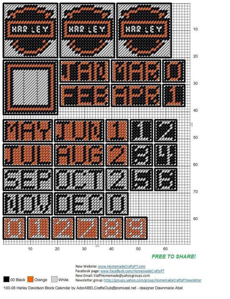 Harley Block Calendar