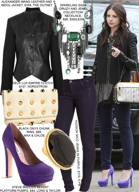 Georgina Sparks Gossip Girl Fashion Edgy Style inspirations brought to you by www.sleekster.club ...