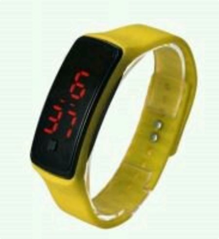 LED Digital Watches Jelly Men/women Yellow Wrist Watch