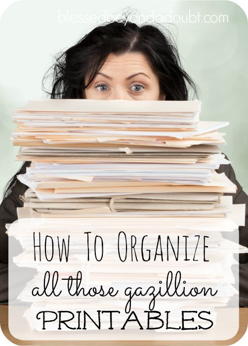 Learn how to organize all those wonderful printables easily. It will make your life easier.