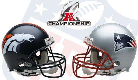 Broncos vs Patriots for the AFC Championship GO BRONCOS!!!!!!!