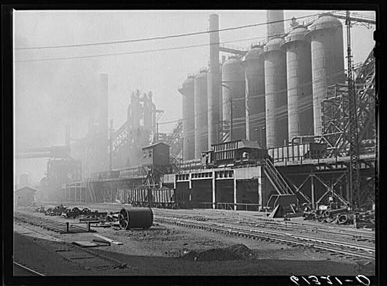 Bethlehem steel mill. Sparrows Point, Maryland---My grandad worked there...damn asbestos