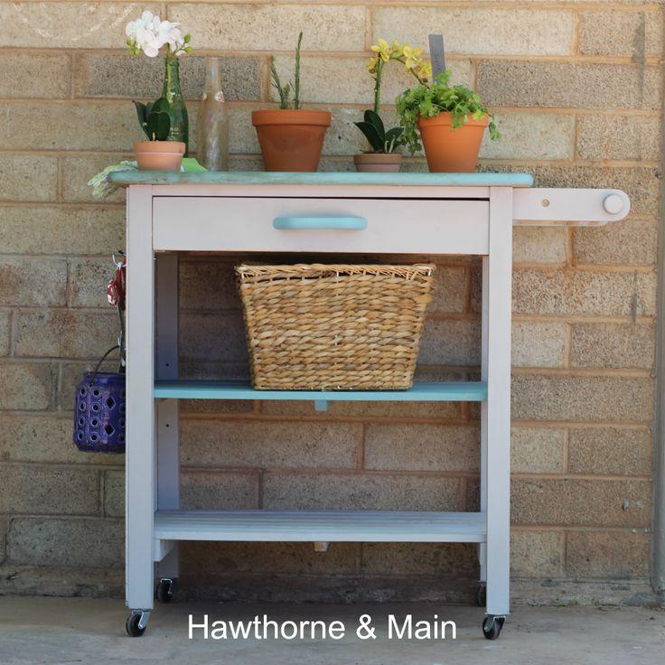 Hawthorne and Main: Kitchen Cart turned Gardening Station