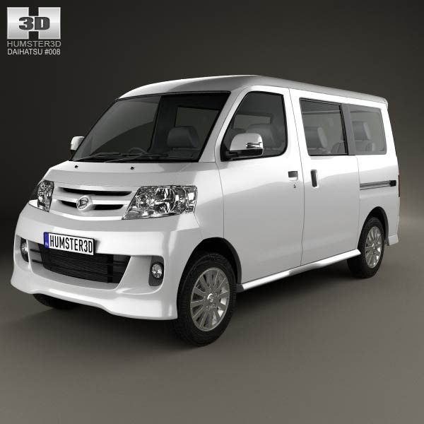 Daihatsu Luxio 2013 3d model from humster3d.com. Price: $75
