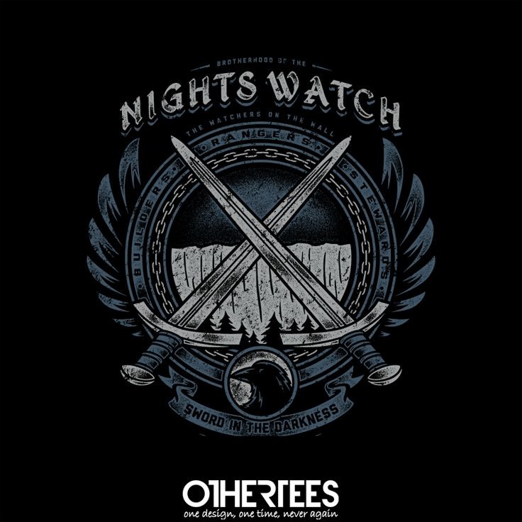 """Sword in the Darkness"" by Brandon_Wilhelm T-shirts, Tank Tops, Sweatshirts and Hoodies are on sale until 24th October at www.OtherTees.com Pin it for a chance at a FREE TEE! #got #gameofthrones #georgerrmartin #nightswatch #othertees"