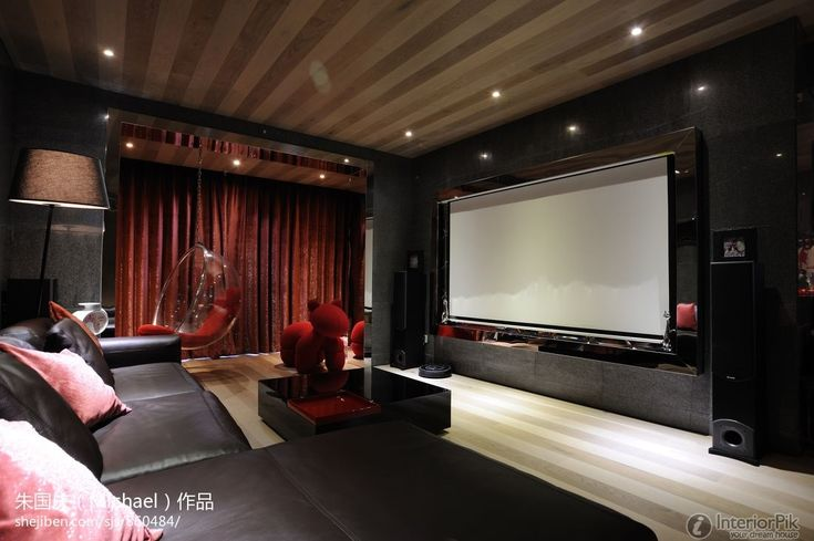 Modern home theater for a comfortable room